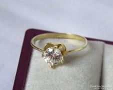 14 k szoliter arany gyűrű csillogó szint. gyémánttal- 1,8 gr