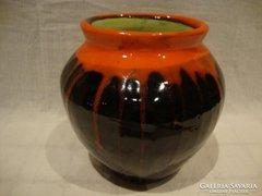 Retro iparművész kerámia váza gyönyörűség