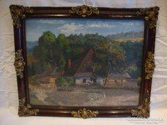 A. Bodnár 1929 olaj-vászon festmény