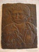 Kisfaludy Károly antik bronz plakett