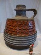 Jelzett retro iparművész kerámia váza korsó