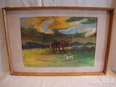Czigler G. lovas festmény