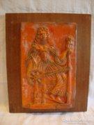 Régi kerámia falikép , falidísz