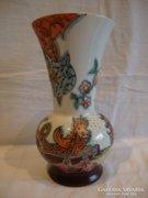 Jelzett kézifestett porcelán váza , Matánné