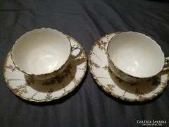 Sarreguemines fajansz csésze + alj