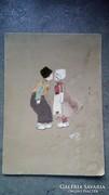 Pölhőssy vagy Bölhőssy anyagból ragasztott kép 1934
