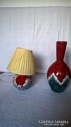 Iparművészeti kerámia lámpa + váza
