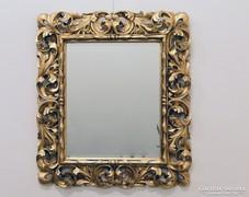 0C754 Antik aranyozott hibátlan florentin tükör