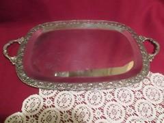 42x26 cm szőlő mintás fém tálca 1701/7