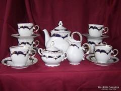 Cseh porcelán Ofélie 539 teáskészlet 9 részes