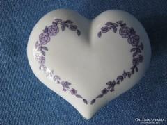 Szív alakú Hollóházi porcelán bonbonier