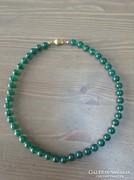 Régi zöld onix gyöngysor