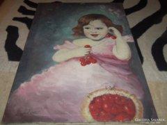 Cseresznyés kislány
