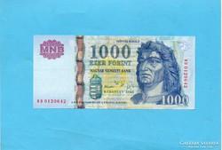 Hajtatlan  !!!!  Unc !!!! 1000 Forint 2005 DC !!!