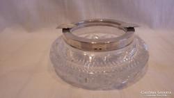 Ezüst peremű luxus kristály hamutartó