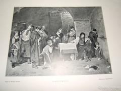 MUNKÁCSY MIHÁLY 1887-es FÉNYMETSZET v. AUTOTYPIA
