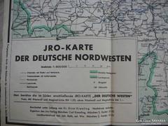 """JRO -Karte 1925  """"A német Èszaknyugat"""""""