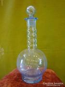 Világoskék üveg palack