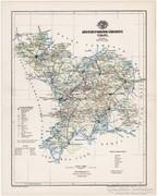 Jász-Nagy-Kun-Szolnok vármegye térkép 1894, antik, eredeti