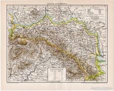 Galícia és Bukovina térkép 1895, antik, eredeti II.