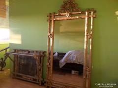 Hatalmas kastélyba való konzolos tükör 272 cm magas