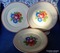 Antik, Bavaria porcelán süteményes tányér 3 db