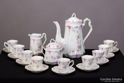 C.T. régi porcelán kávéskészlet 9 személyes