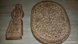 2db gyönyörű, régi fali kerámia dísztárgy együtt eladó