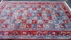 Csodás Iráni Kézi Patina Perzsa szőnyeg
