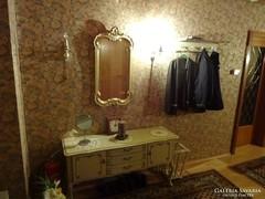 Chippendél barokk komplett előszoba garnitura törtfehér szin