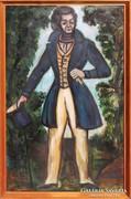 Gaburek Károly: Cilinderes figura