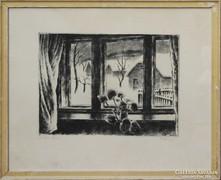 Kórusz József: Ablak télen