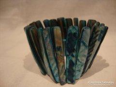 Kék gyöngyház karkötő