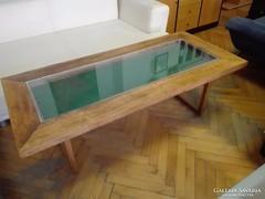 Art-deco vitrin asztal