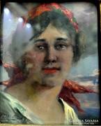 Pállya Celesztin: Női portré