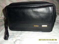 Fekete új  műbőr autós táska