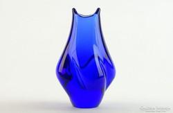 0K670 Fújtüveg BOHEMIA művészi üveg váza 13 cm