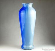 0K692 Fújtüveg művészi spanyol üveg váza 41 cm