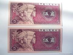 China 5 Jiao 1980 UNC.