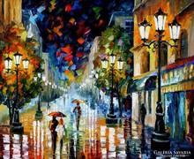 Afremov Leonid (1955): Séta az esőben
