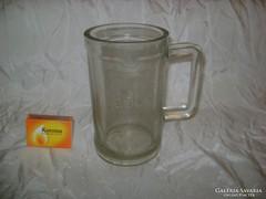 Régi, vastag falú üveg mérőedény - 0,5 dl