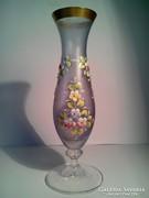 Bohémia üveg váza