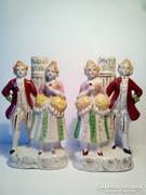 Barokk pár párban porcelán lámpatestek