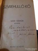 Sásdi Sándor: Szívrehulló kő. 1933! dedikált!