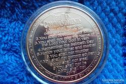 A tízparancsolat-aranyozott érme