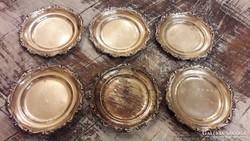 Antik ezüst kistálkák, poháralátét gyönyörű, jelzett