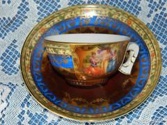 Antik, Gloria porcelán, különleges mokkás szett, gyűjtői