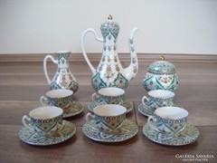 Zsolnay perzsa mintás kávéskészlet