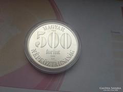 1988 labdarúgó EB ezüst 500 Ft 28 gramm 0,900