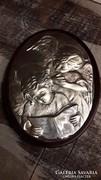 Ezüst angyalkás kép 925-ös jelzettMade in Italy